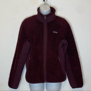Patagonia Synchilla Retro-X Deep Pile Fleece Jacket Burgundy Size medium